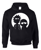 RICK AND MORTY MOON HOODIE - INSPIRED BY RICK AND MORTY